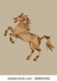 Geometric horse, art vector design