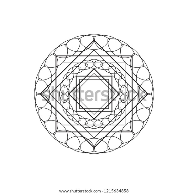 geometric islamic shape round icon vector stock vector royalty free 1215634858 shutterstock