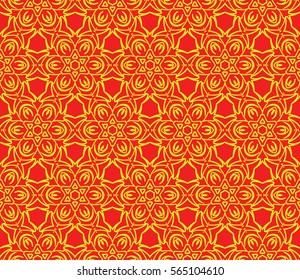 geometric Lace seamless pattern. floral ornament. Creative Vector illustration. for design invitation, background, wallpaper