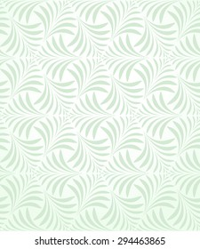 Geometric leaf pattern. Seamless vector background. Abstract ornament.
