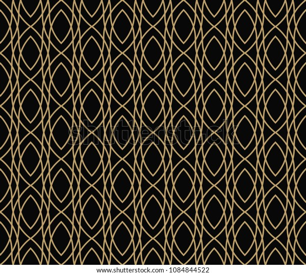 geometric line ornament seamless pattern, modern minimalist style pattern background
