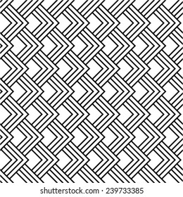 Geometric linear pattern in squares seamless vector background.
