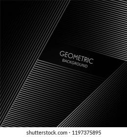Geometric lines elegant shape on a black background vector