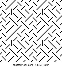 Geometric Lines Seamless Pattern, Line Seamless Pattern Vector Art Illustration