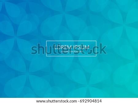 Geometric Lite Blue Abstract Backgroundlow Polygonal Stock Vector