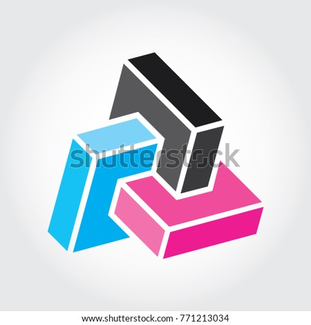Geometric Logo 3 Cube Square Box Stock Vector Royalty Free