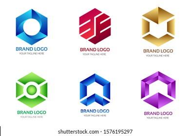Geometric Logo Design Vector  Illustration
