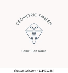 Geometric logo template. Vector linear modern symbol for alternative or extreme sport teams and crews