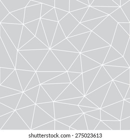 Geometric low poly graphic repeat pattern made out of triangular facets. Vector pattern.