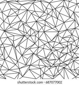 Geometric low poly triangle seamless pattern. Vector background