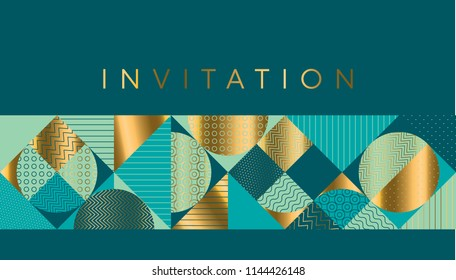 Geometric luxury bright motif for header, card, invitation, poster, cover and other web and print design xmas projects. Simple geometry stock vector illustration
