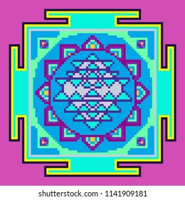 Pixel Art Mandala Images Stock Photos Vectors Shutterstock