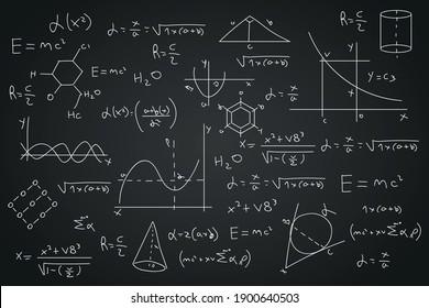 geometric math and physics formulas vector