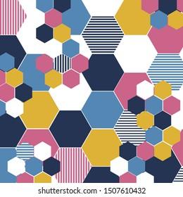 Geometric Mid Century Pattern Background