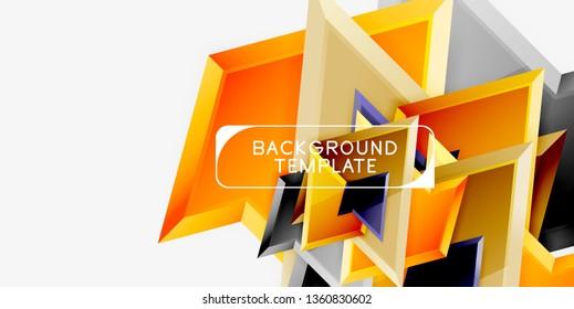 Geometric minimal design background. Vector modern poster