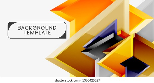 Geometric minimal design background. Vector modern poster