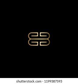 Geometric Minimal Letter BB Logo Design In Vector Format