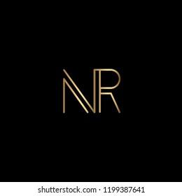 Geometric Minimal Letter NR Logo Design In Vector Format