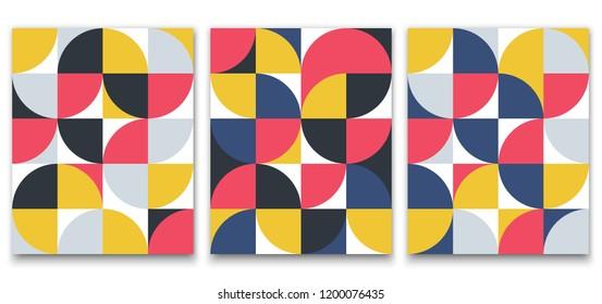 Geometric minimalistic pattern in Scandinavian style for poster design