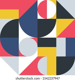 Geometric minimalistic pattern in Scandinavian style.Abstract design for advertising branding, web banner, business and Wallpaper