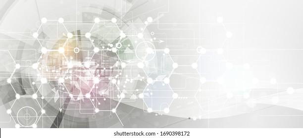 Geometric modern innovation technology background.  Global business idea solution