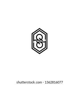 geometric modern lines hexagon QQ logo letter design concept