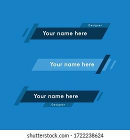 Geometric modern lower third banner template. lower banner symbol for your web site design, logo, app, UI. Vector illustration, EPS10.