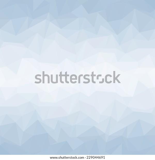 Geometric mosaic Background blue
