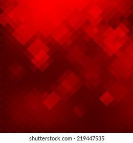 Geometric mosaic red background. Vector illustration EPS8