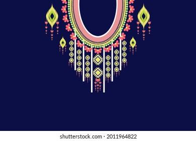 geometric neckline vector, geometric neckline, pastel neck craft, bohemian neckline, ikat collar style, tribal collar style, boho style, geometric collar , aztec textile style, neckline fabric pattern