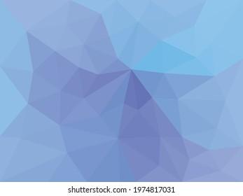 Geometric ocean of triangle background