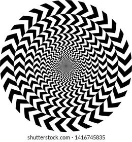 geometric optical illusion. circle pattern