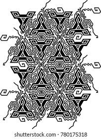 Geometric optical illusion vibration design.Triangles black and white colors pattern. Trendy contempirary fashion style.
