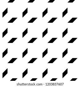 Geometric ornament. Polygons wallpaper. Quadrangles backdrop. Blocks background. Mosaic motif. Digital paper, textile print, web designing, abstract. Seamless surface pattern design. Vector artwork