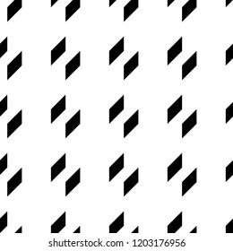 Geometric ornament. Quadrangles backdrop. Checks wallpaper. Blocks background. Mosaic motif. Digital paper, textile print, web designing, abstract. Seamless surface pattern design. Vector artwork