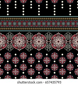 Geometric ornament for weaving, knitting, embroidery, wallpaper, textile Ethnic pattern Border ornament