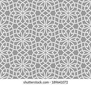 Geometric Ornamental pattern. Traditional Arabic seamless ornament.
