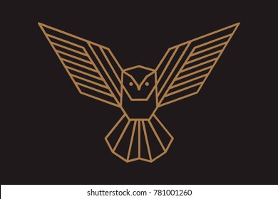 geometric owl logo or a sketch of the tattoo