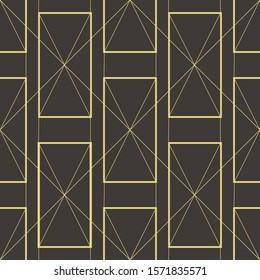 Geometric pattern, Art Deco, modern style. rectangles