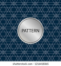 Geometric pattern background. Blue background