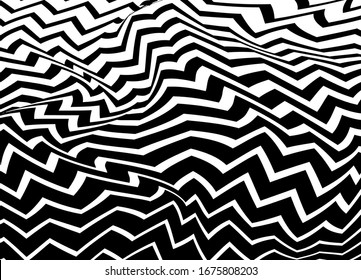 The geometric pattern by stripes . Black white vector background. Black and white texture. Graphic modern pattern.