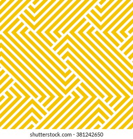 The geometric pattern by stripes . Seamless vector background. Yellow, gold texture.
