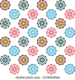 Geometric pattern. It can be used as wallpaper, gift or wrapping paper, notebook cover, background card for gift card, background print for table or poster.