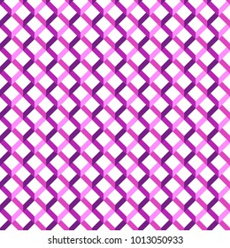 Geometric pattern checkered lines.Geometry magenta stripes lines check background. Vector geo regular textures effect 3d, honeycombs, lattice