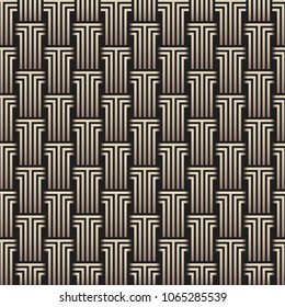 Geometric pattern. Columns made of lines. Vector abstract illustration