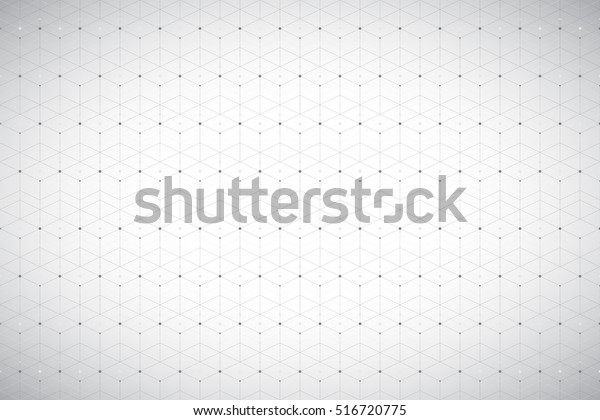 Geometric pattern with connected line and dots. Grey graphic background connectivity. Modern stylish polygonal backdrop for your design. Vector illustration
