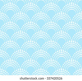 geometric pattern with dotted arches