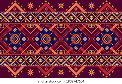 Geometric pattern, oriental fabric, ethnic style EP.4.Used to decorate carpets, clothes, shoes, bags, curtains, textiles or other