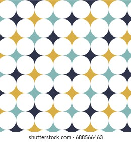 Geometric pattern. Geometric simple print. Vector repeating texture.
