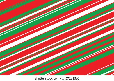 Geometric pattern with slanted colorful lines. Christmas color. Vector illustration